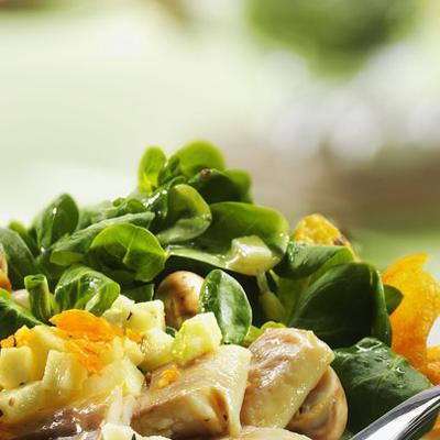 Feldsalat-mit-Champignons