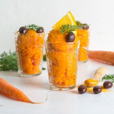 Moehren-Orangen-Sorbet