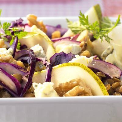 Rotkohl-Linsen-Salat