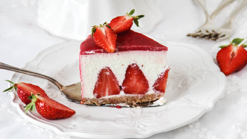 Emma's Erdbeer Nobake Joghurt Törtchen