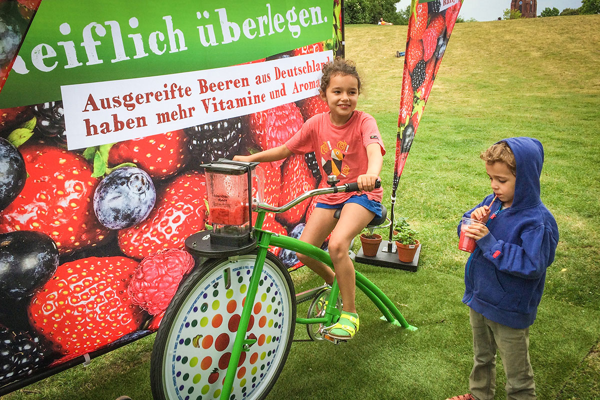 BVEO Beeren-Smoothie-Bike-Tour 2017