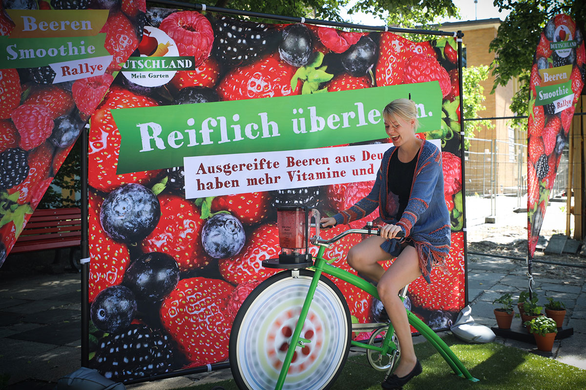 BVEO Beeren-Smoothie-Bike-Tour 2017, Foto: BVEO