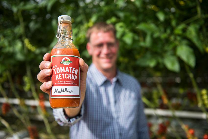 Frischer Tomaten-Ketchup