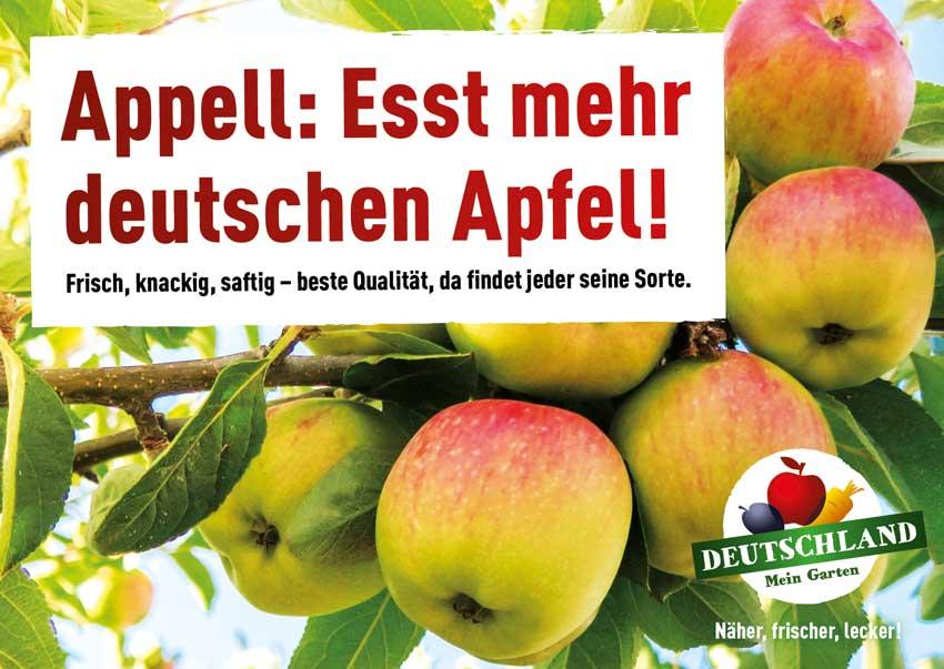 Appell: Esst mehr deutschen Apfel!