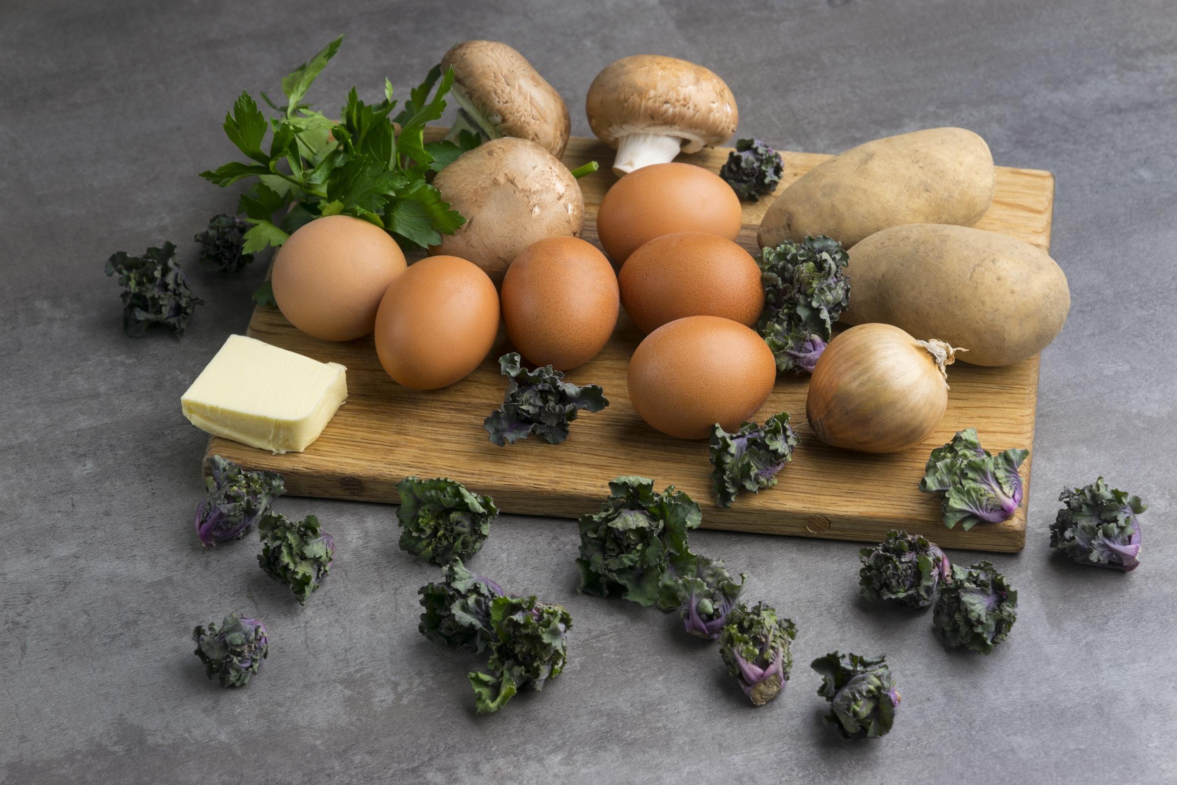 Zutaten für Tortilla mit Kalettes