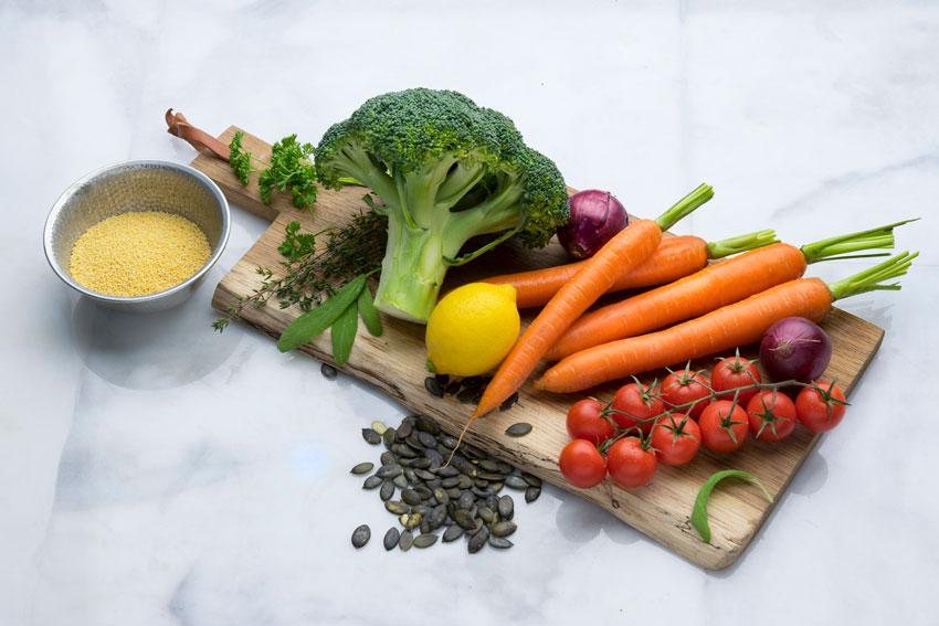 Zutaten für die Gemüse-Pfanne