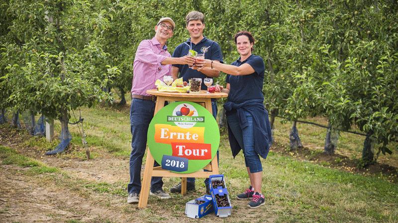 Deutsches Obst und Gemüse Erntetour Tag 1