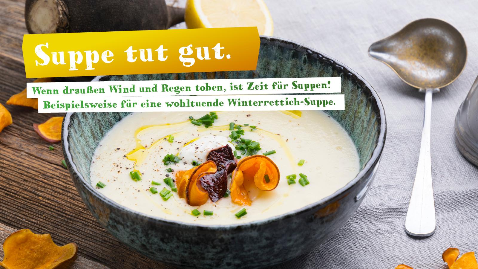 Rezept für Suppe mit Winterrettich