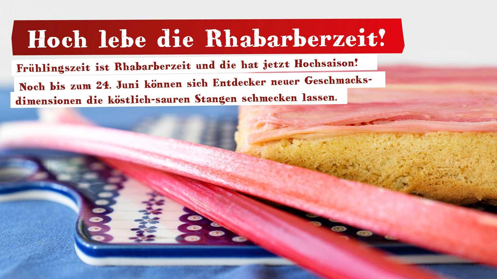 Ankündigung Rhabarberkuchen